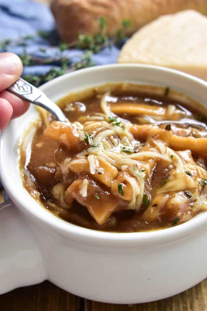 French Onion Noodle Soup