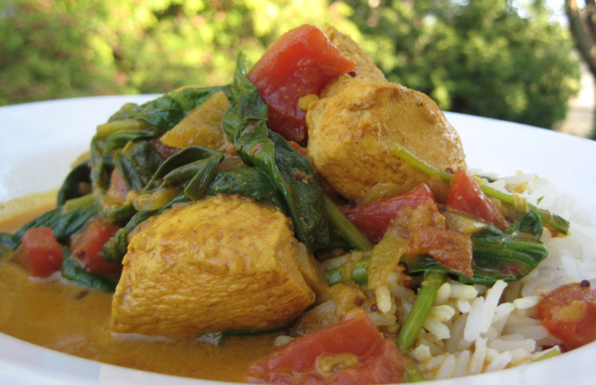Chicken Curry with Spinach!