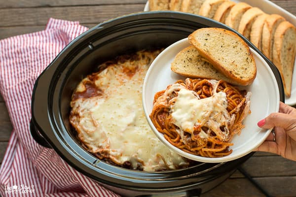 Ground Beef: Slow Cooker Baked Spaghetti