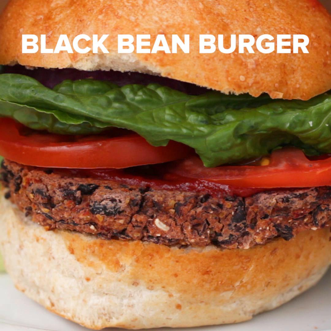 Black Bean & Roasted Red Pepper Veggie Burgers