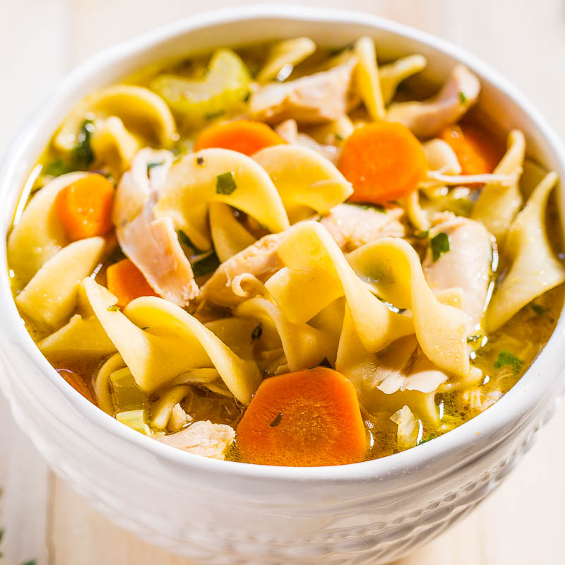 Easy 30-Minute Homemade Chicken Noodle Soup - Averie Cooks