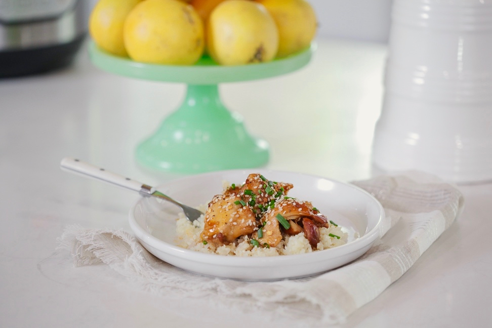 Instant pot Sesame-Orange Chicken