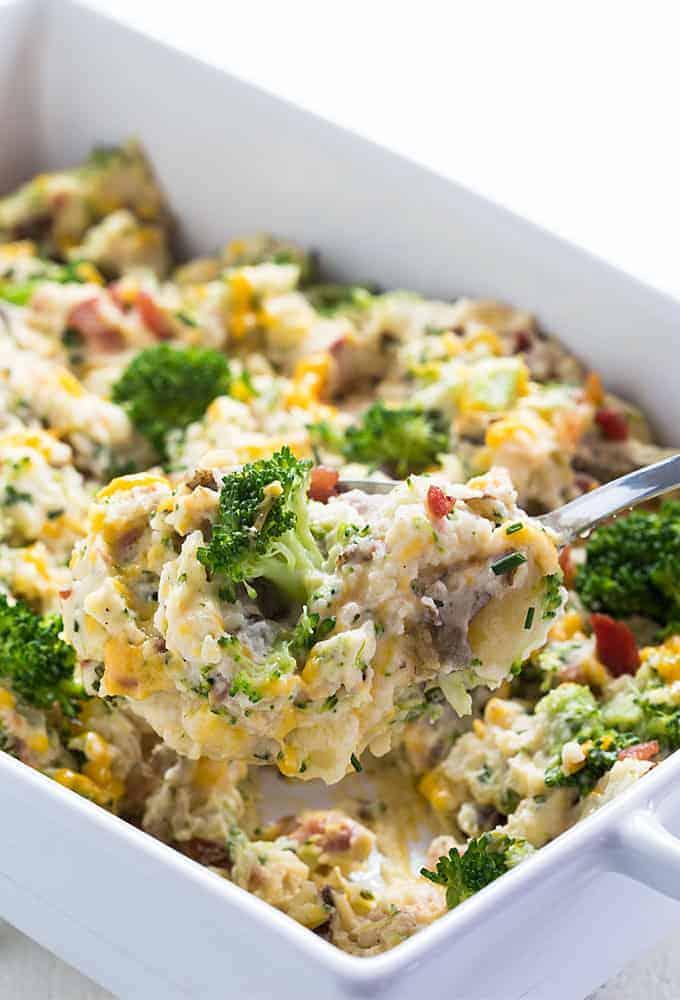 Broccoli Cheddar Potato Casserole