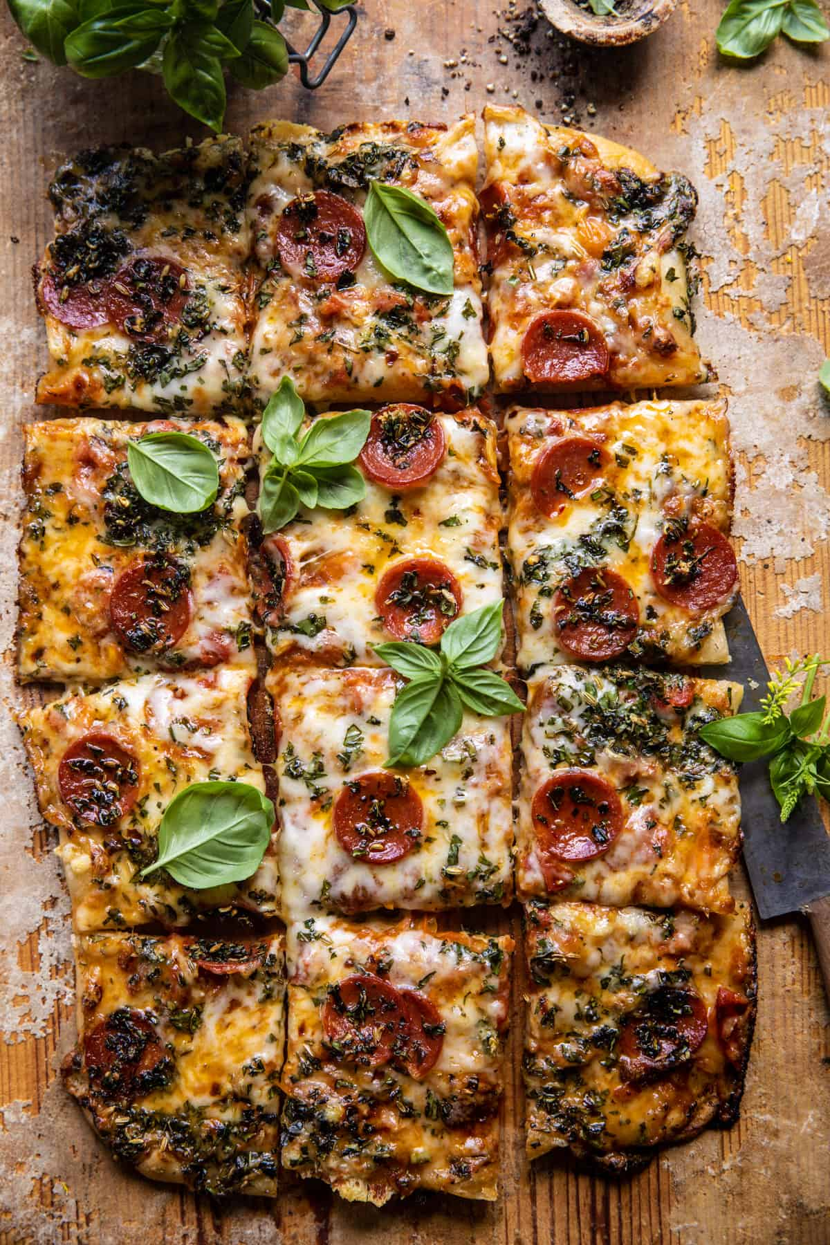 Easy Sheet Pan Tomato Herb Pizza. - Half Baked Harvest Easy Sheet Pan Tomato Herb Pizza.