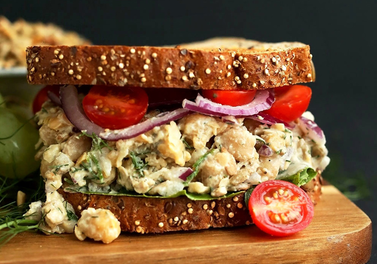Vegan Chickpea No-Tuna Salad Sandwich