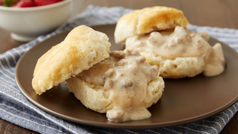 Easy Biscuits And Gravy For Two