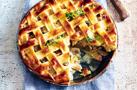 Chicken, pancetta and mushroom pie | Tesco Real Food