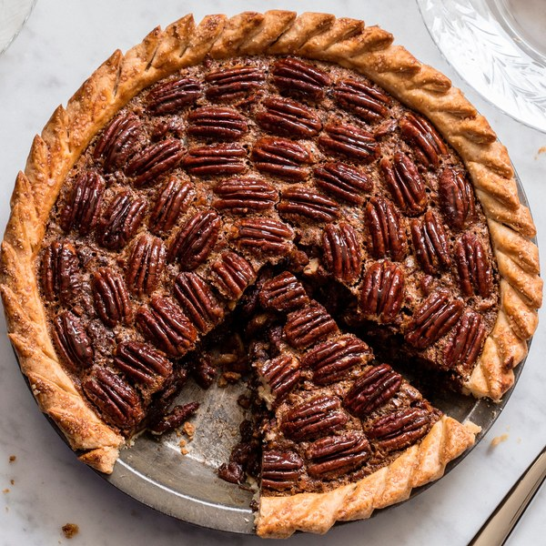 Brown-Butter Pecan Pie with Rum and Espresso recipe | Epicurious.com Brown-Butter Pecan Pie with Rum and Espresso