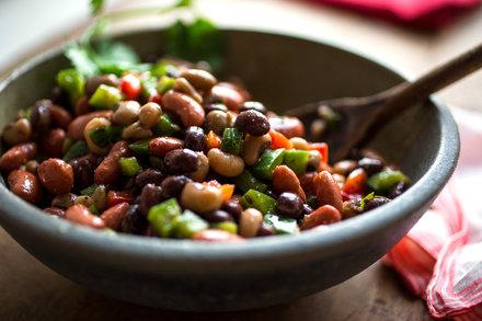 3-Bean Good Luck Salad With Cumin Vinaigrette Recipe