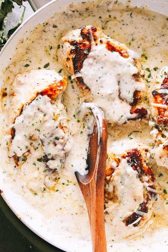 Creamy Garlic Herb Chicken Breasts