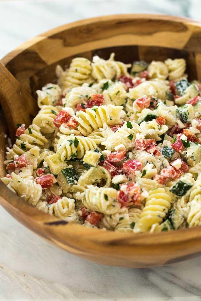 Greek Pasta Salad - Julie's Eats & Treats ® Greek Pasta Salad