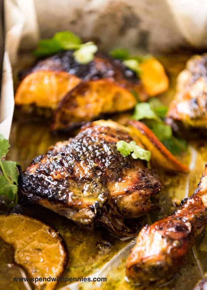 Chicken Thighs & Drums: Cuban Mojo Chicken