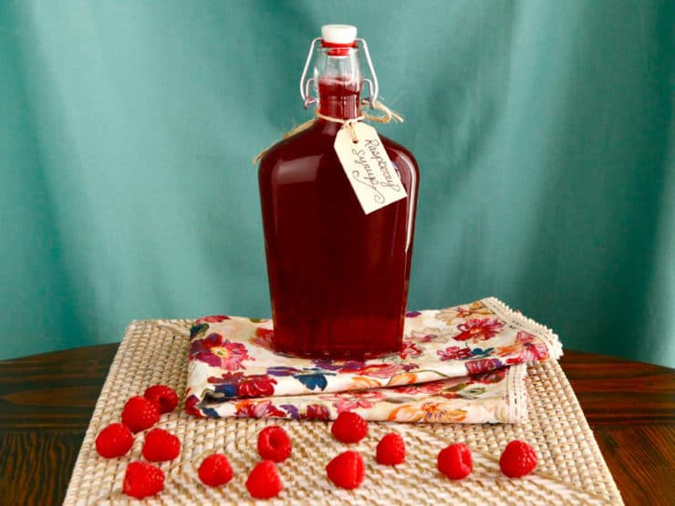 Homemade Raspberry Syrup - Simple Recipe Step-By-Step