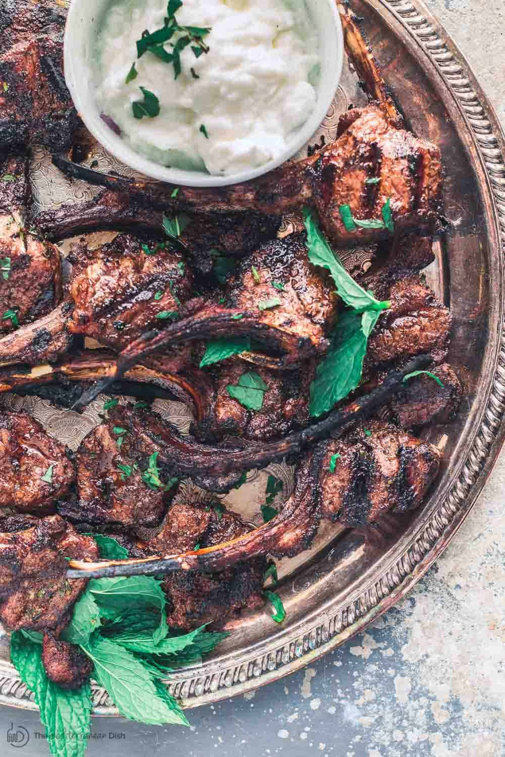 Lamb Chops: Grilled With Tomato Mint Quinoa