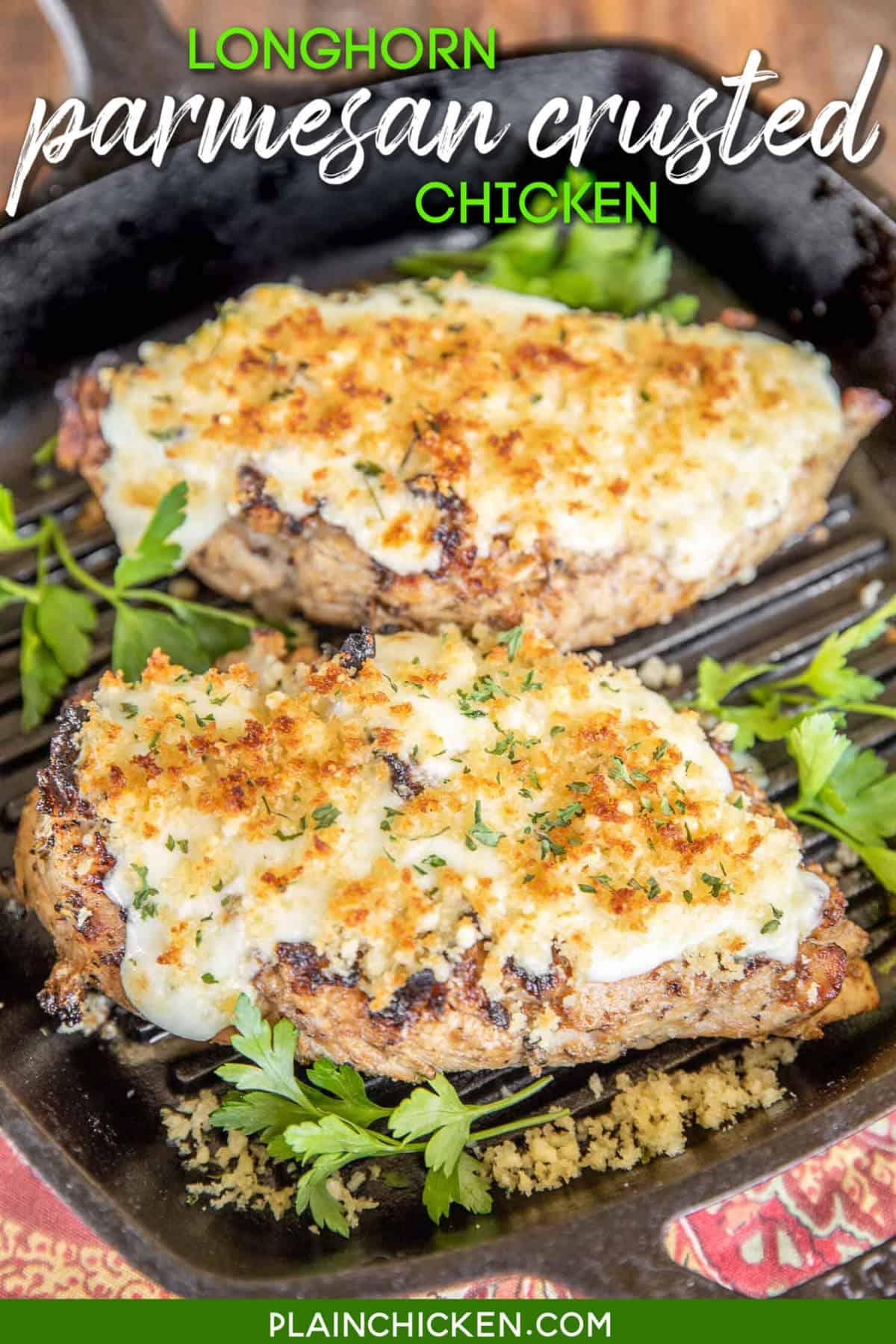 Chicken Breast: Garlic Parmesan Crusted Chicken
