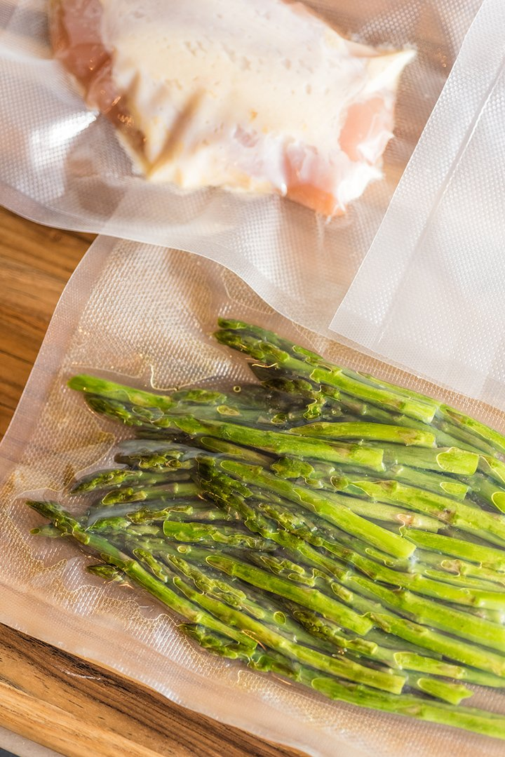 Sous Vide Chicken And Asparagus With Brown Butter