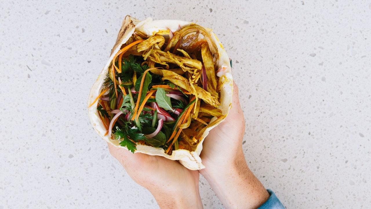 Turkey Shawarma With Crunchy Vegetables