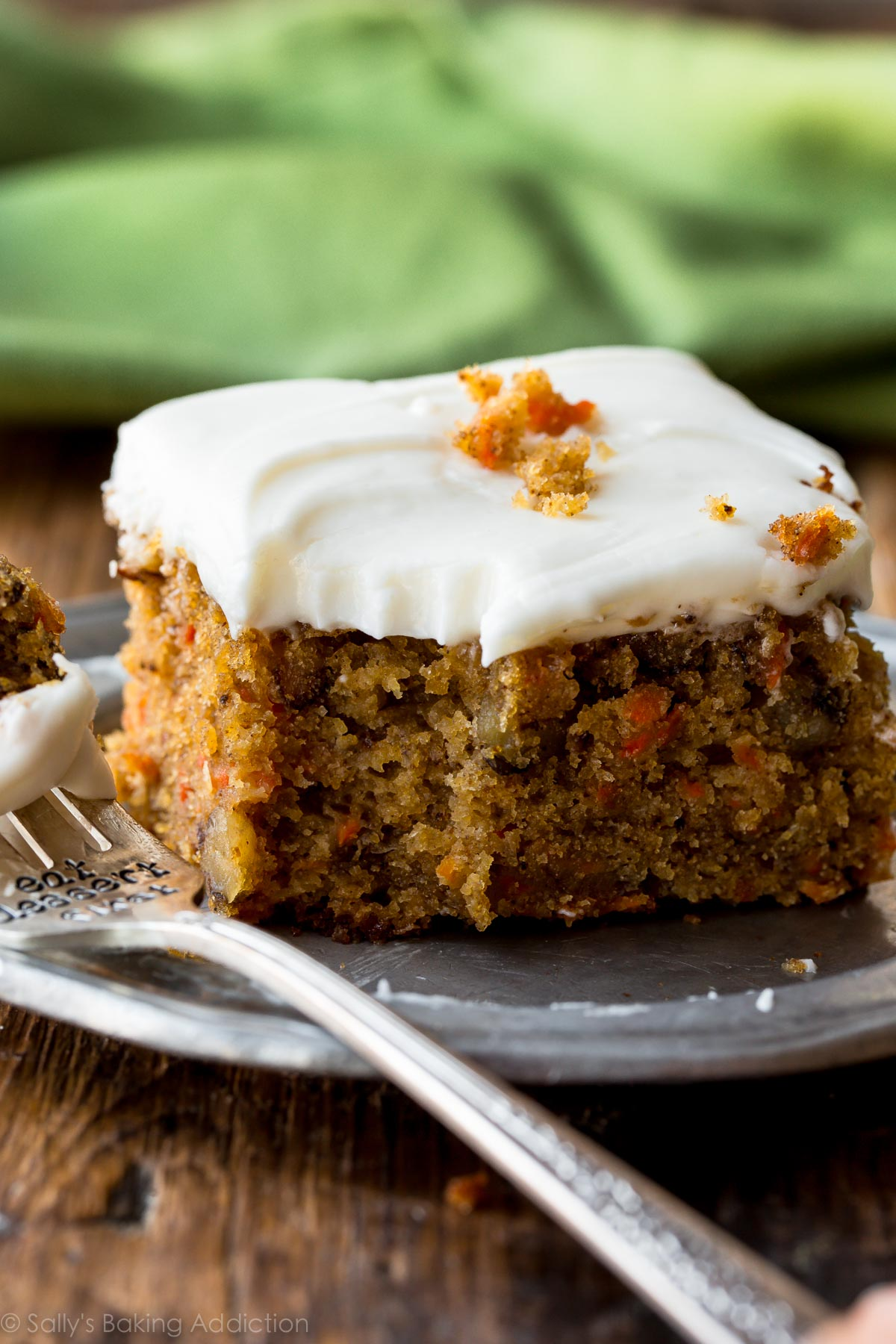 Pineapple Carrot Cake With Cream Cheese Frosting   Sally's Baking Addiction
