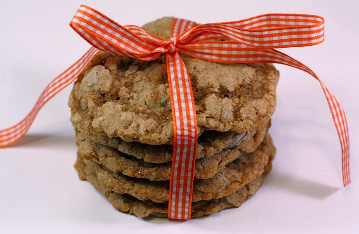 Whole Wheat Chocolate Chip Oatmeal Cookies - Two Peas & Their Pod