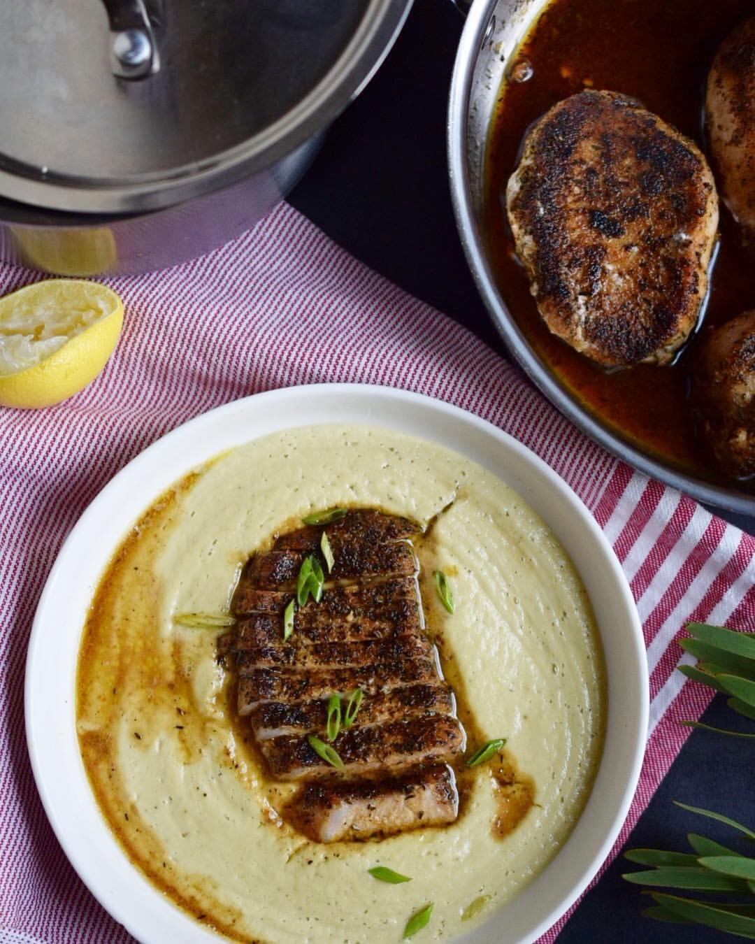 Pork Chop & Cauliflower Purée