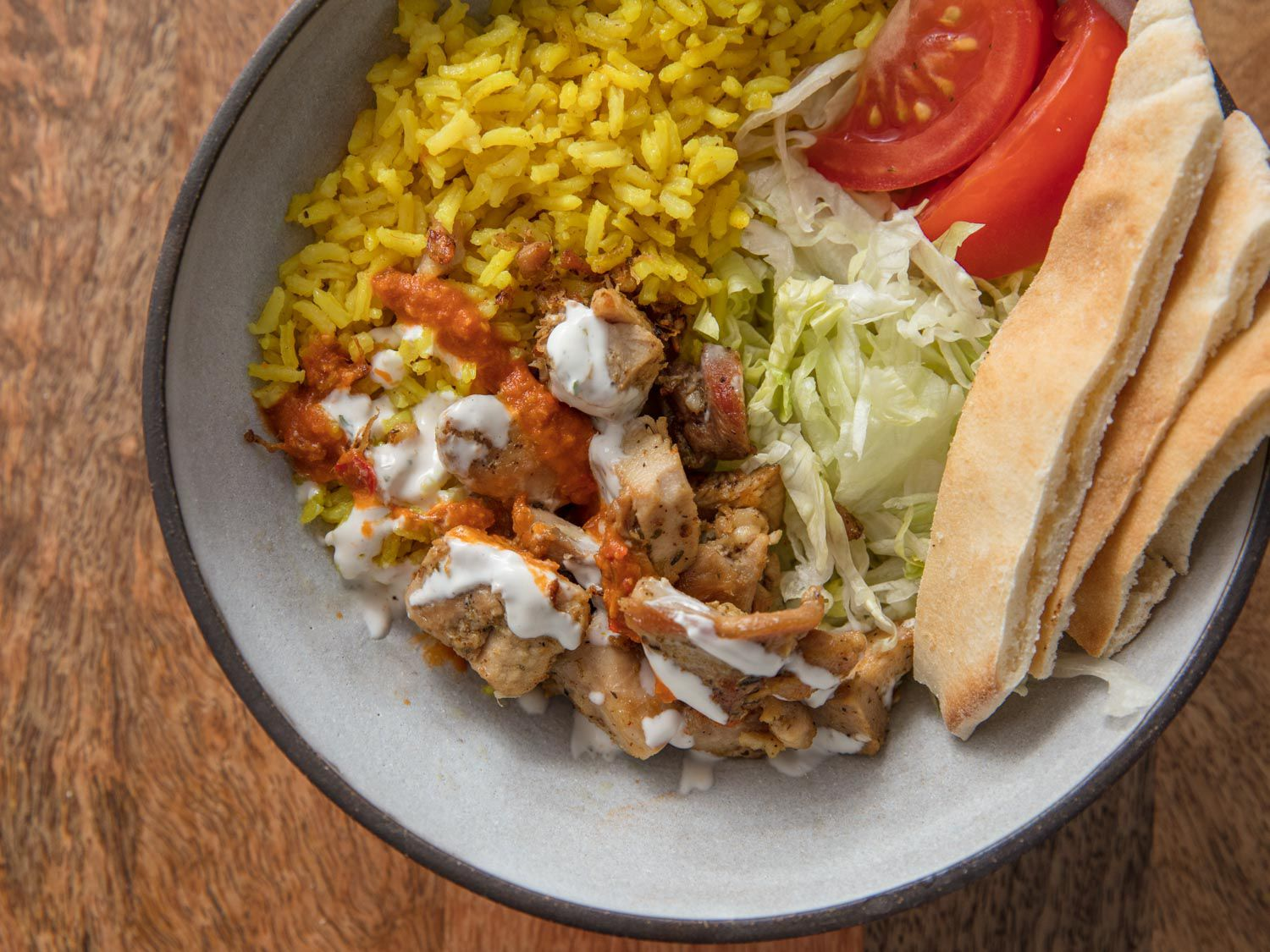 Serious Eats' Halal Cart-Style Chicken and Rice With White Sauce