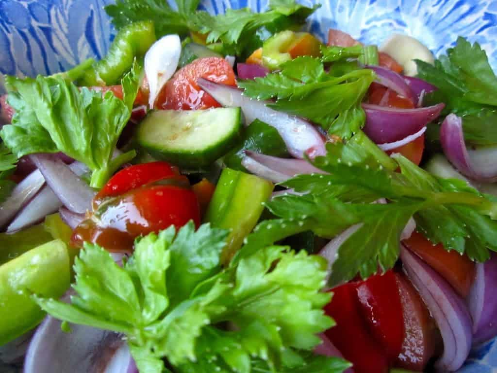 Simple, Fresh And Healthy Garden Salad