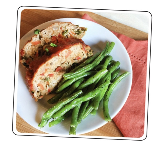 Meatloaf with Spiced Green Beans