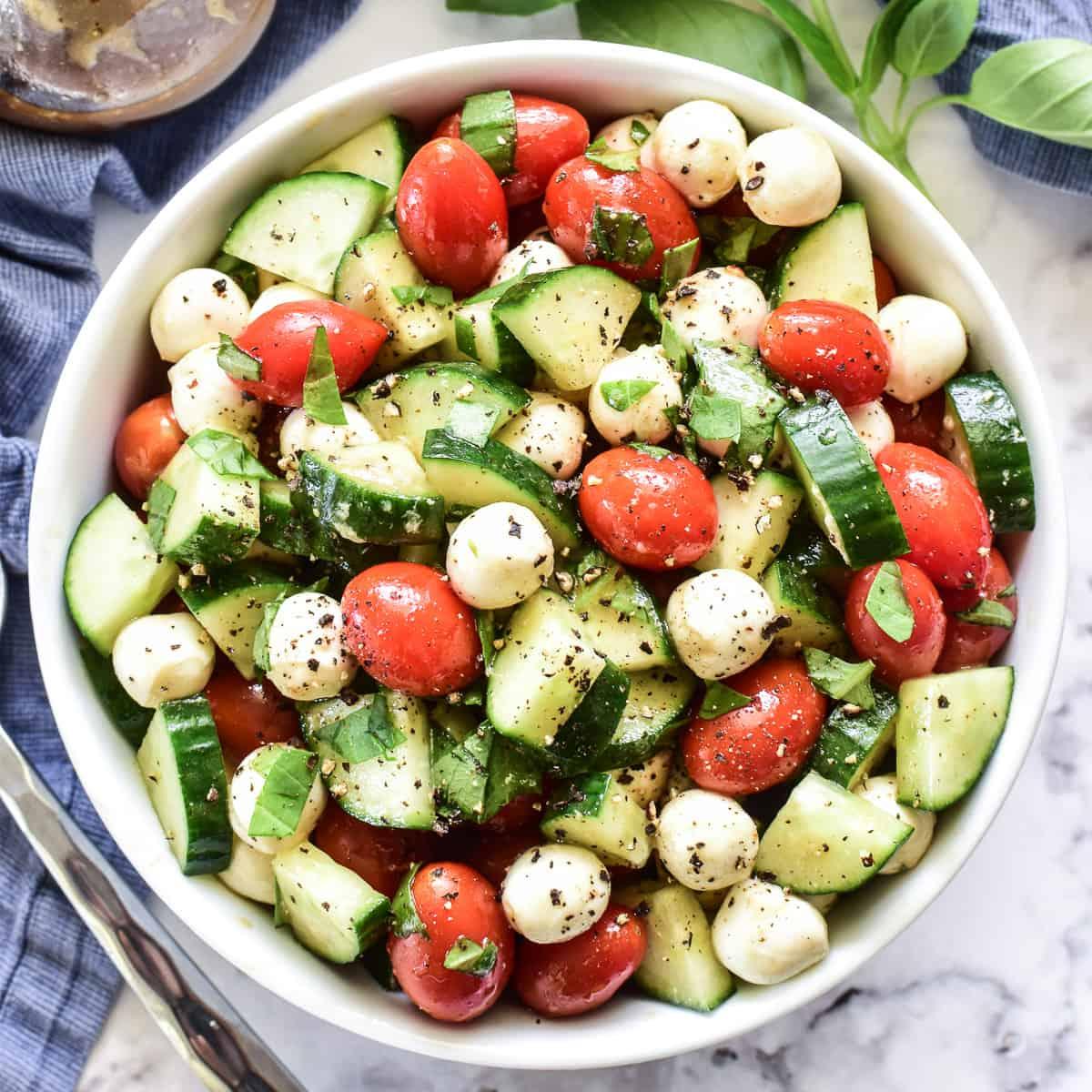 Cucumber: Caprese Salad