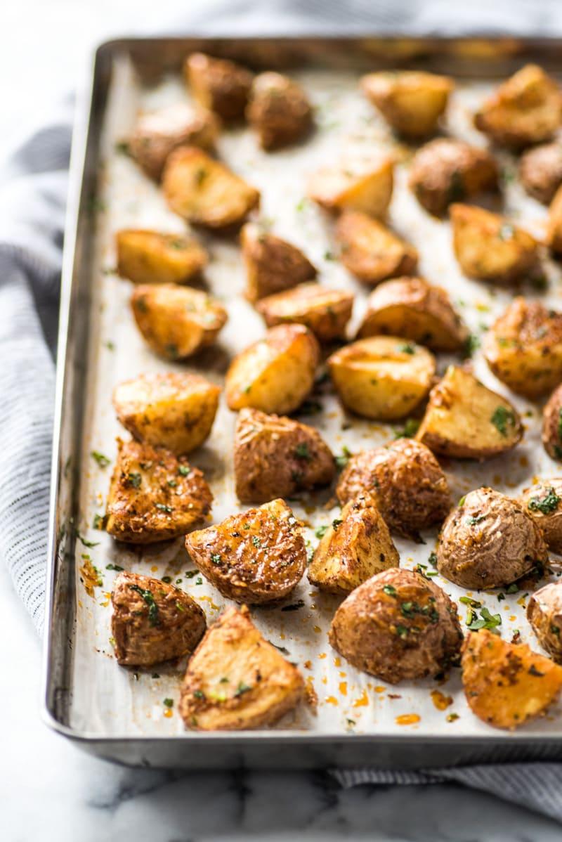 Mexican Potatoes {Crispy & Roasted!} - Isabel Eats