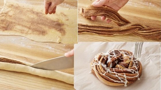 Cinnamon-Sugar Crescent Twist Bread