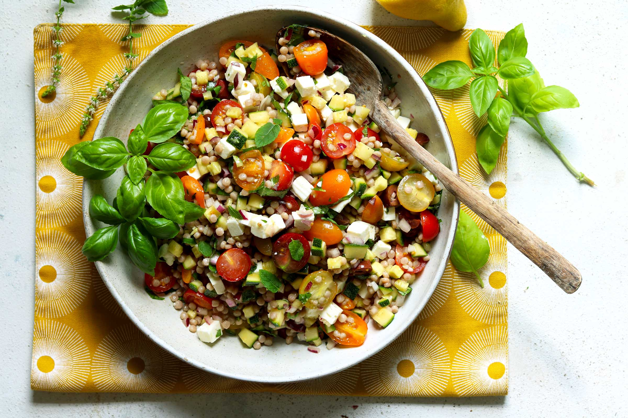 Mediterranean Couscous Salad - The Last Food Blog