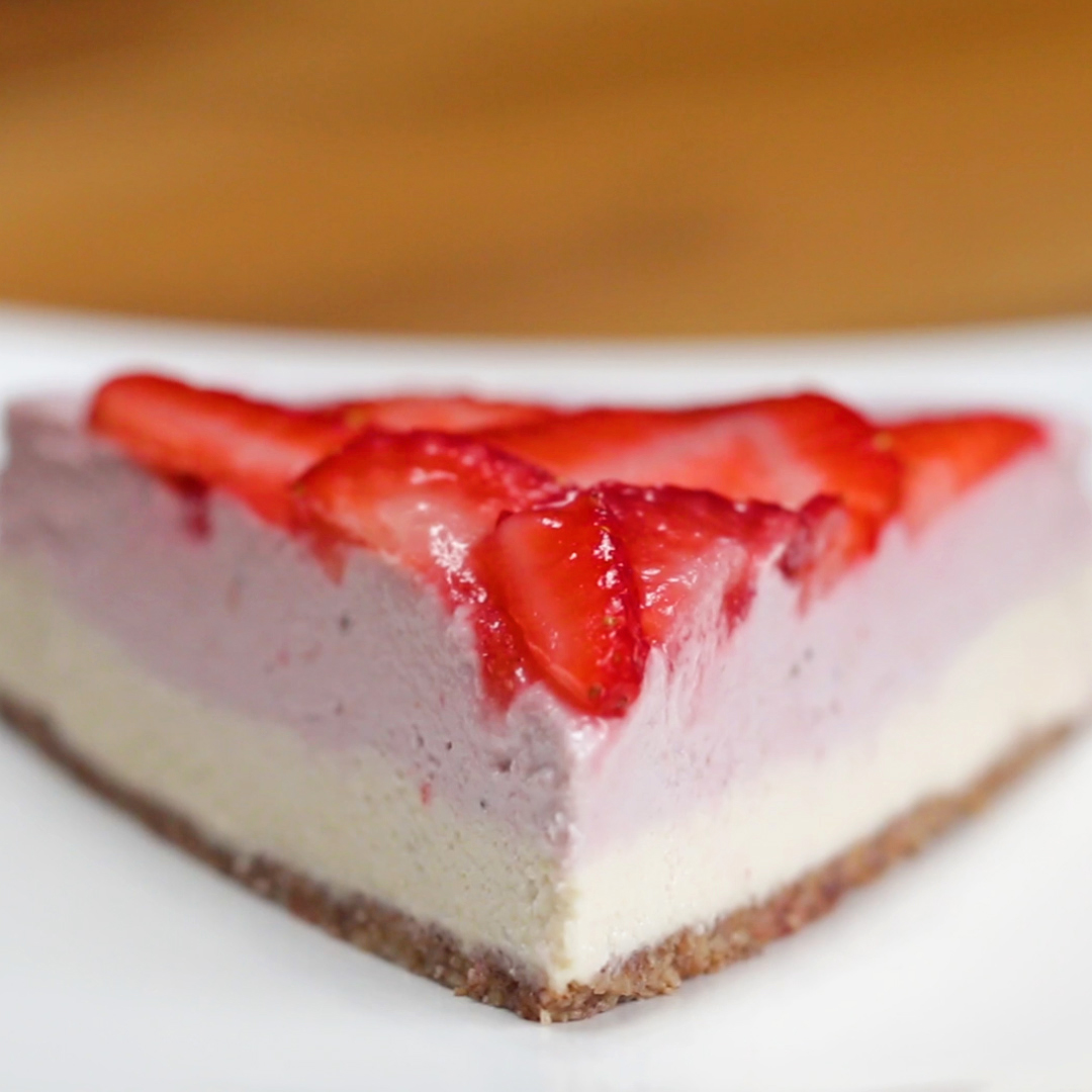 Dairy-Free Strawberry Cheesecake
