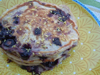 Lightened Up: Blueberry Lemon Pancakes | Once A Month Meals