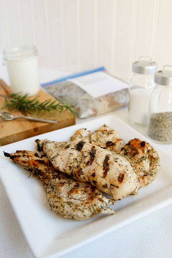 Buttermilk Herb Chicken- Lunch Version | Once A Month Meals