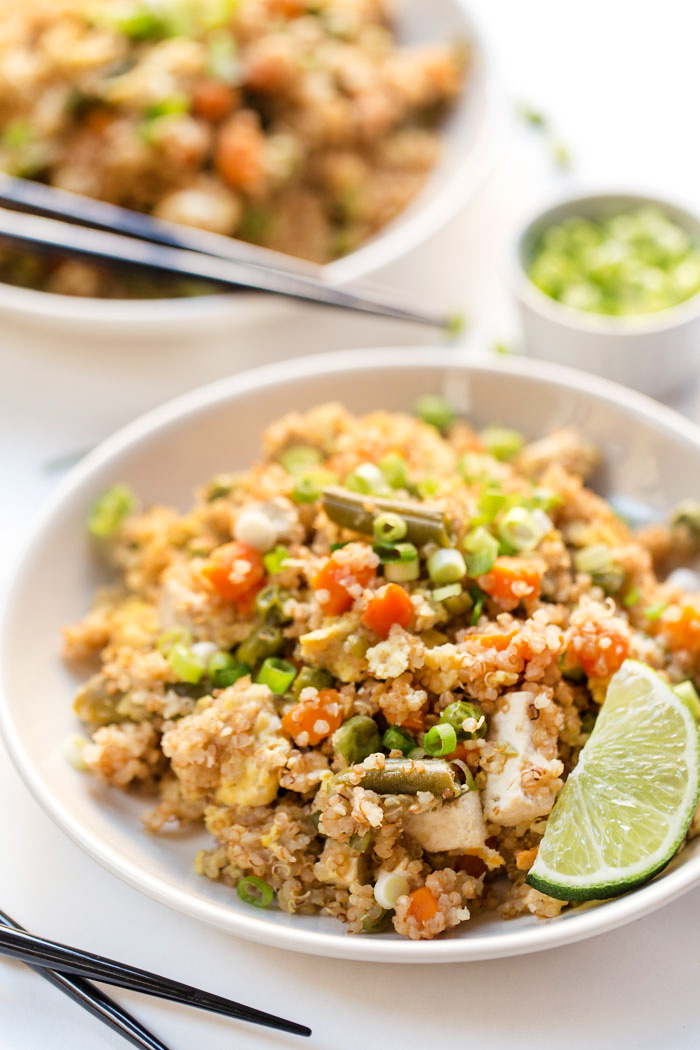 Pressure Cooker Fried Quinoa With Tofu