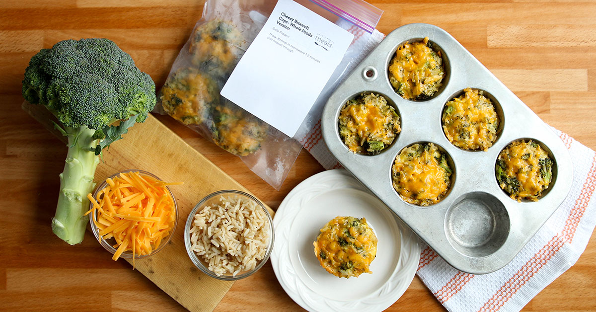 Cheesy Broccoli Cups- Diet Version | Once A Month Meals