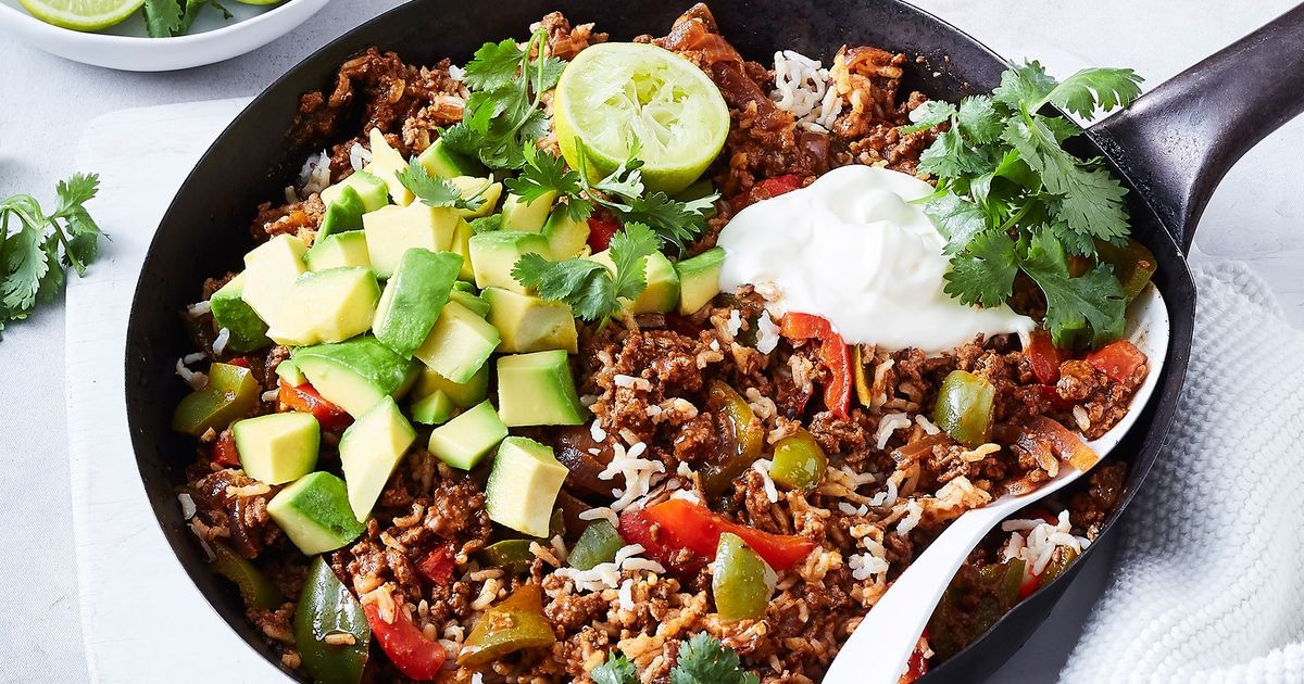 One Pot Healthy Mexican Beef Mince