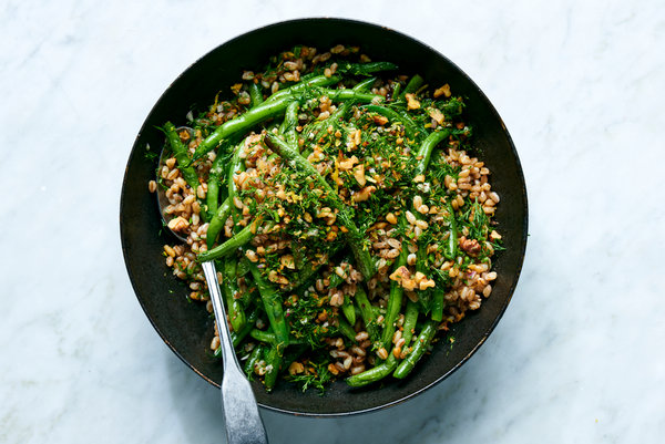 Farro And Green Bean Salad With Walnuts And Dill Recipe