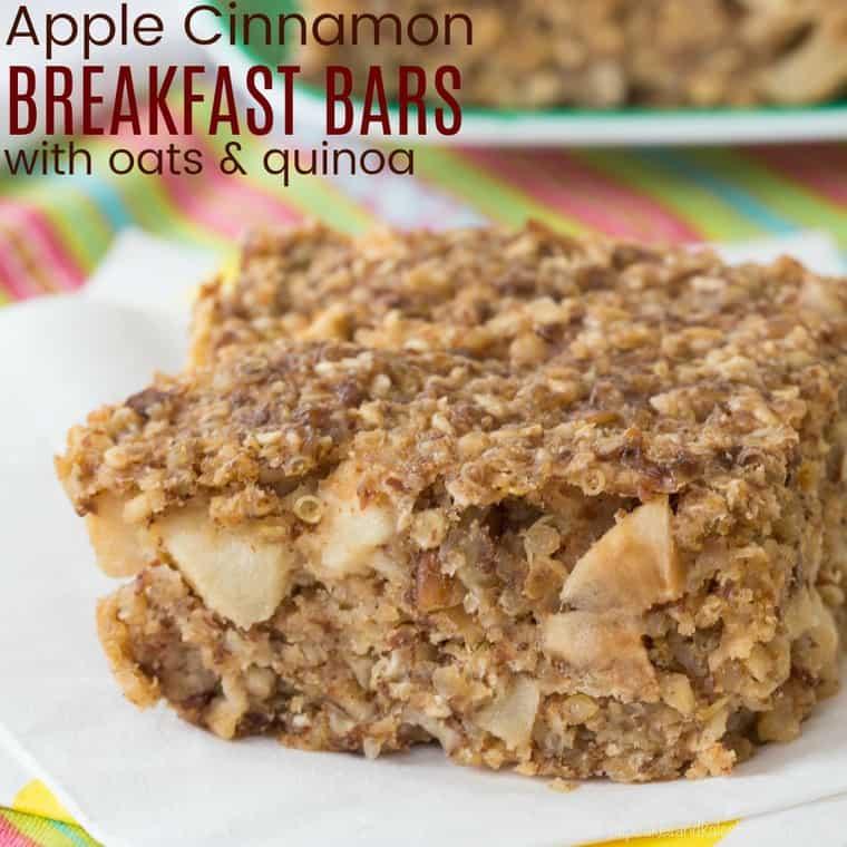 Apple Cinnamon Quinoa Breakfast Bars - Cupcakes & Kale Chips Apple Cinnamon Quinoa Breakfast Bars - Cupcakes & Kale Chips
