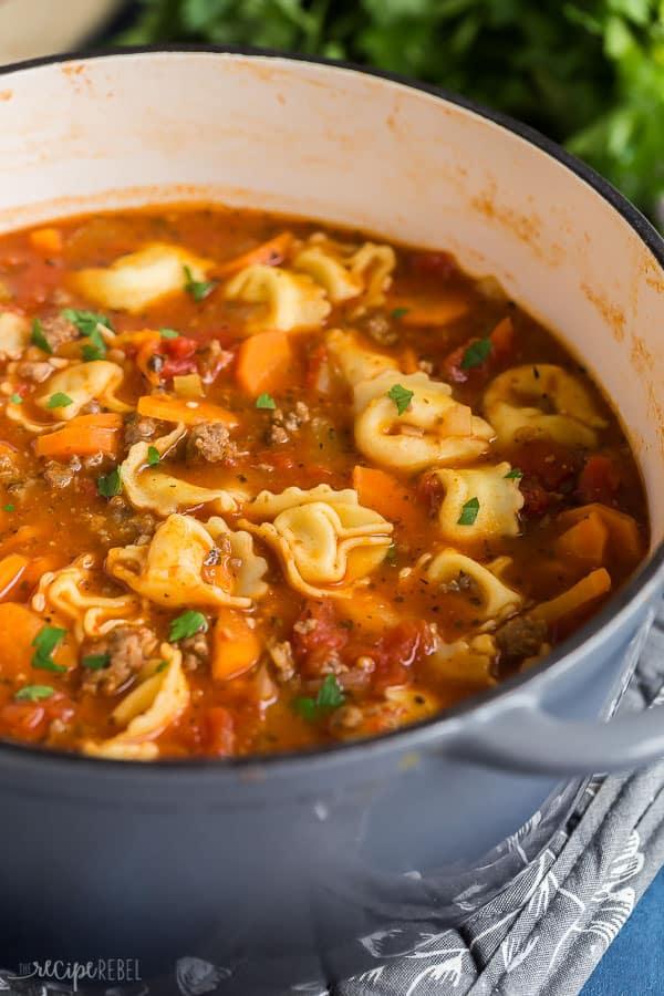 Sausage Tortellini Soup - The Recipe Rebel Sausage Tortellini Soup