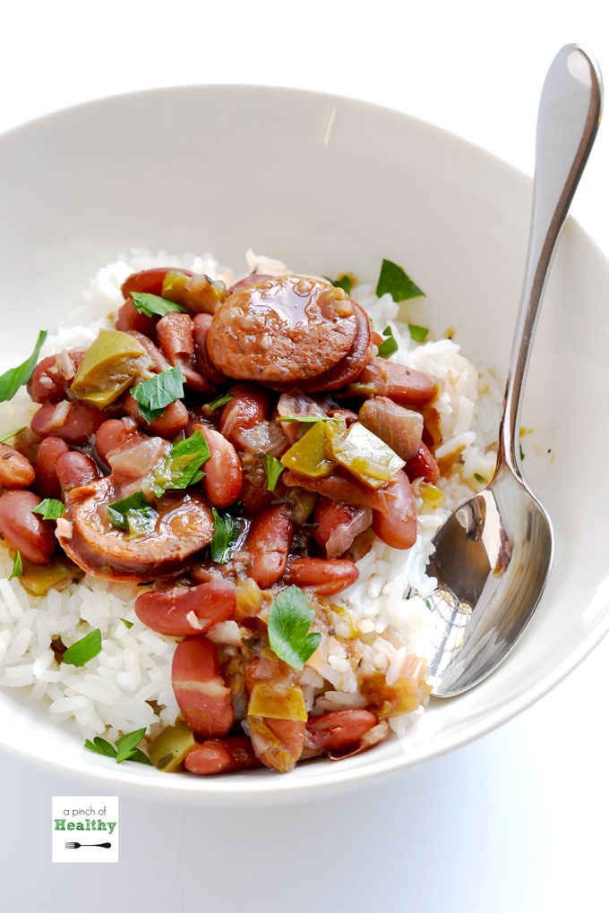 Instant Pot Red Beans And Rice - A Pinch Of Healthy