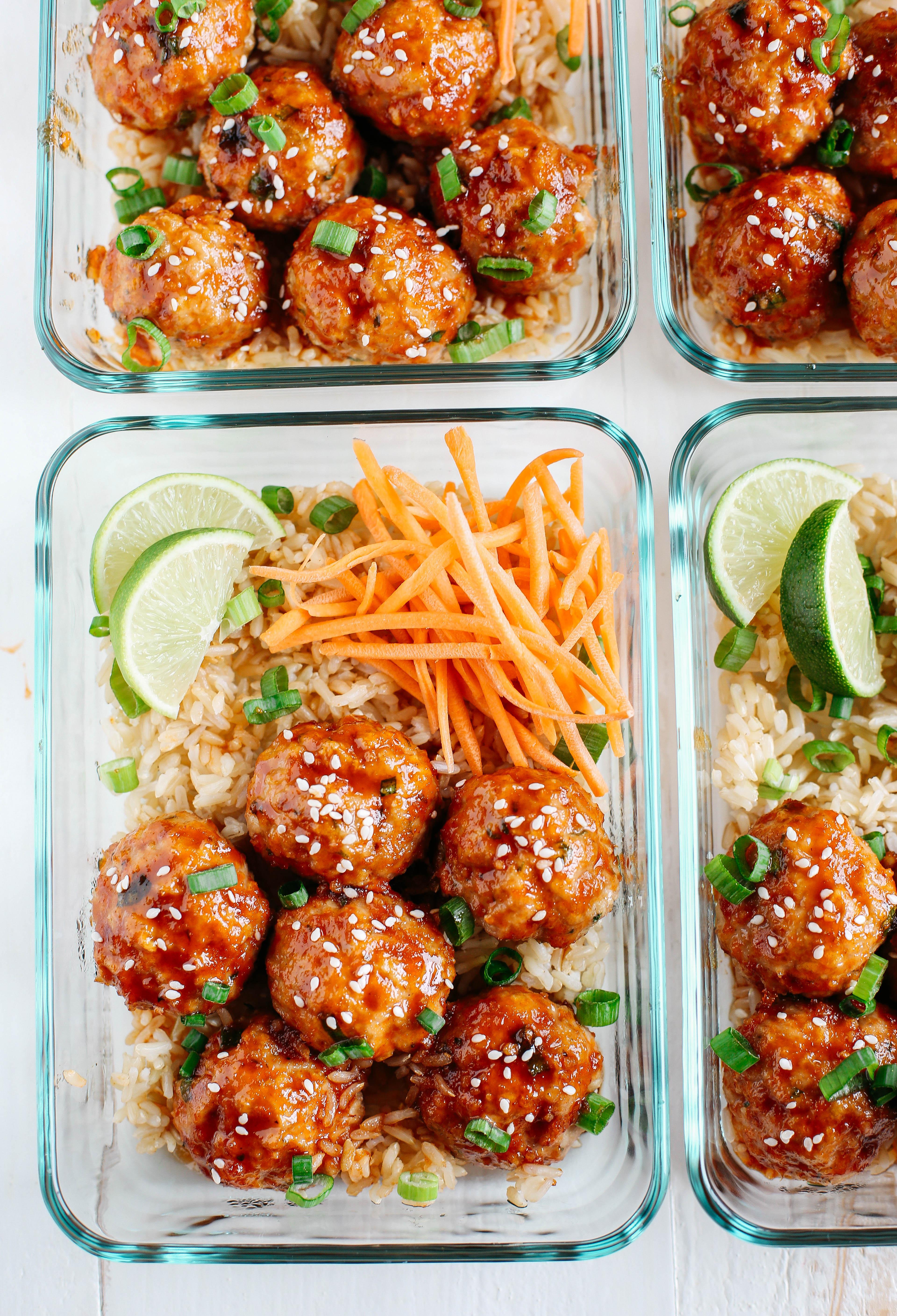 Honey Sriracha Glazed Meatballs - Eat Yourself Skinny