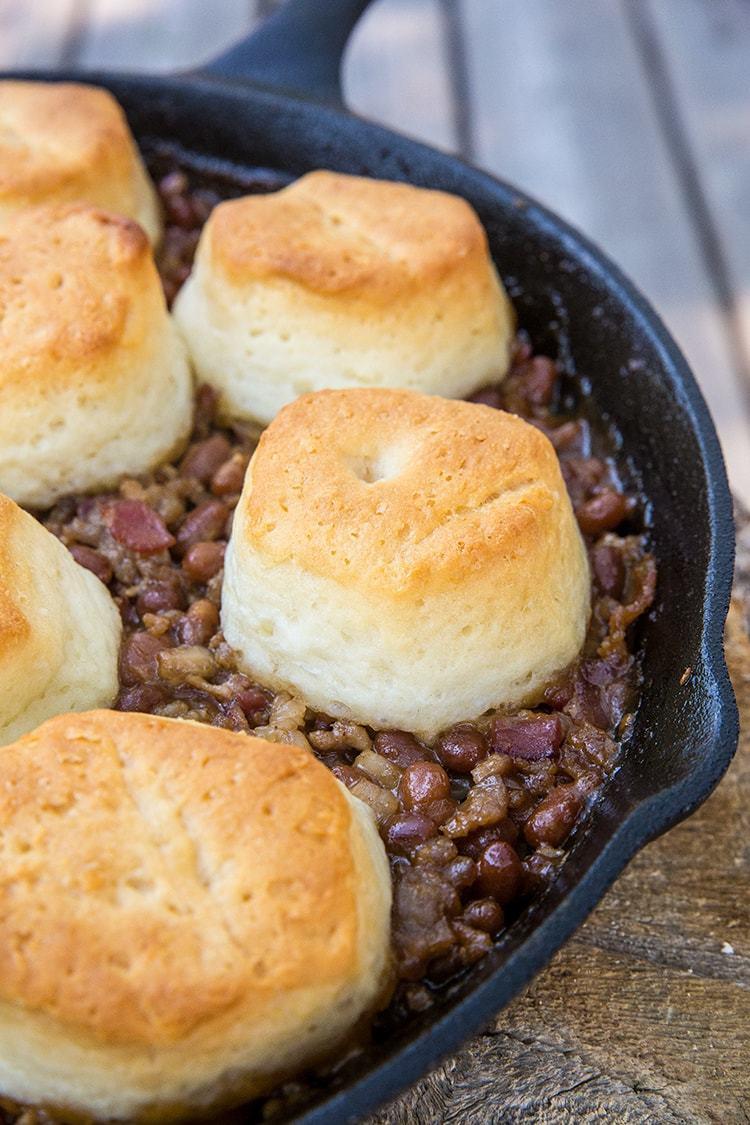 Pork & Beans Cowboy Casserole | The Kitchen Magpie