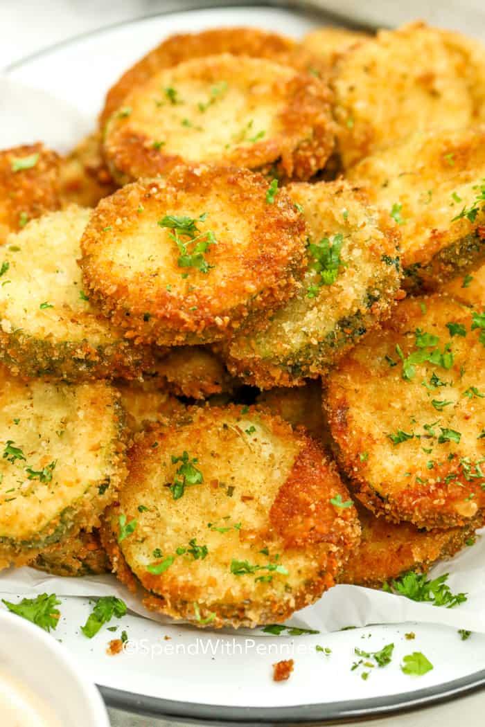 Zucchini/Squash: Crispy Fried
