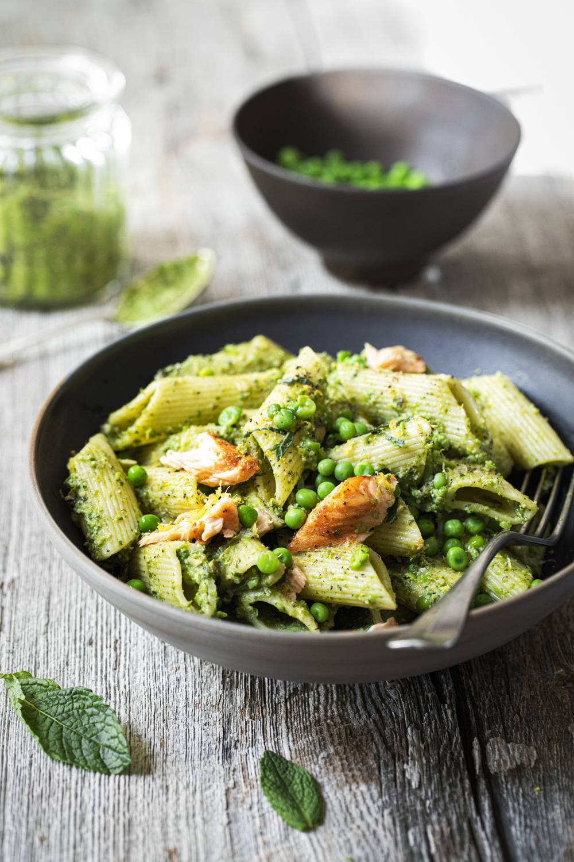 Pâtes Au Saumon Et Pesto De Petits Pois - K Pour Katrine