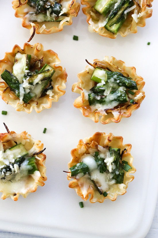 Asparagus And Caramelized Onion Tartlets | Skinnytaste