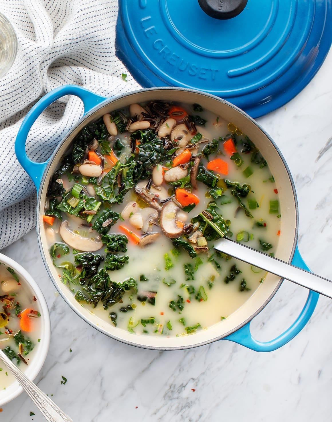 Veggie & Lemon Fresh Wild Rice Soup