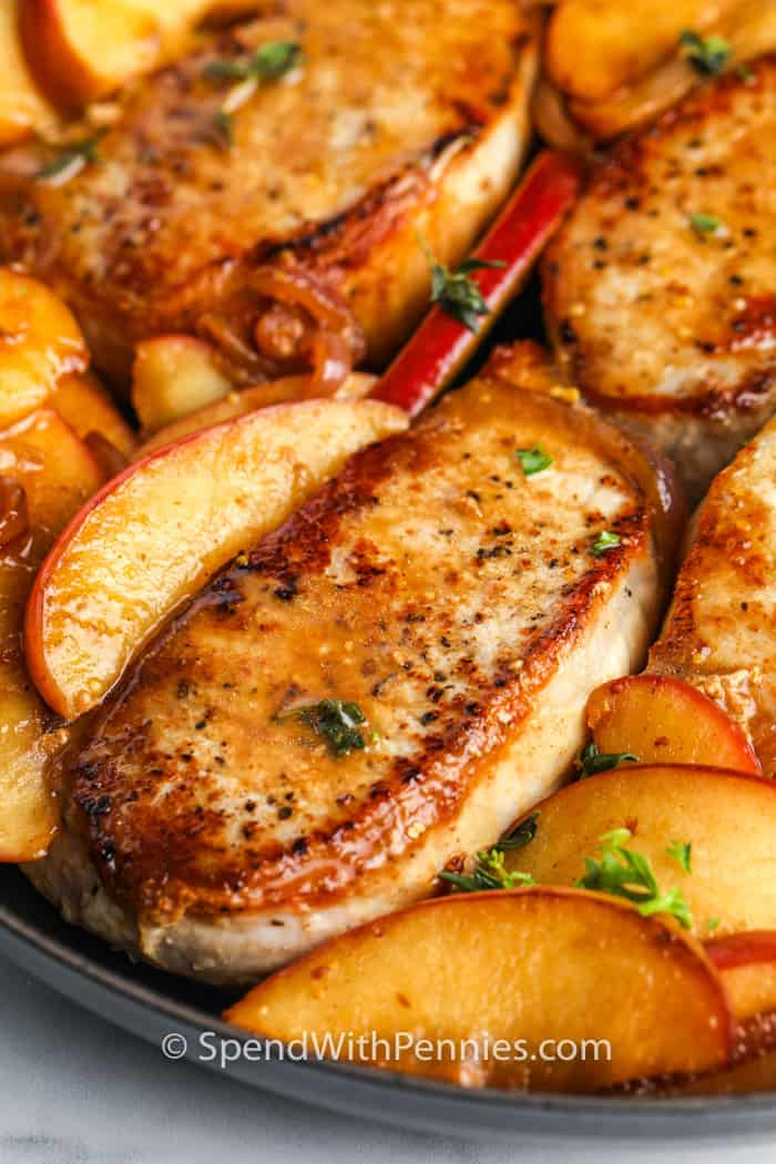 Pork Loin Chops: Pan Fried With Apples