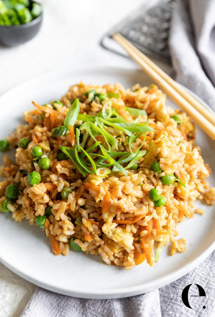 Healthy Fried Rice Recipe (It's Easy!) | Elizabeth Rider