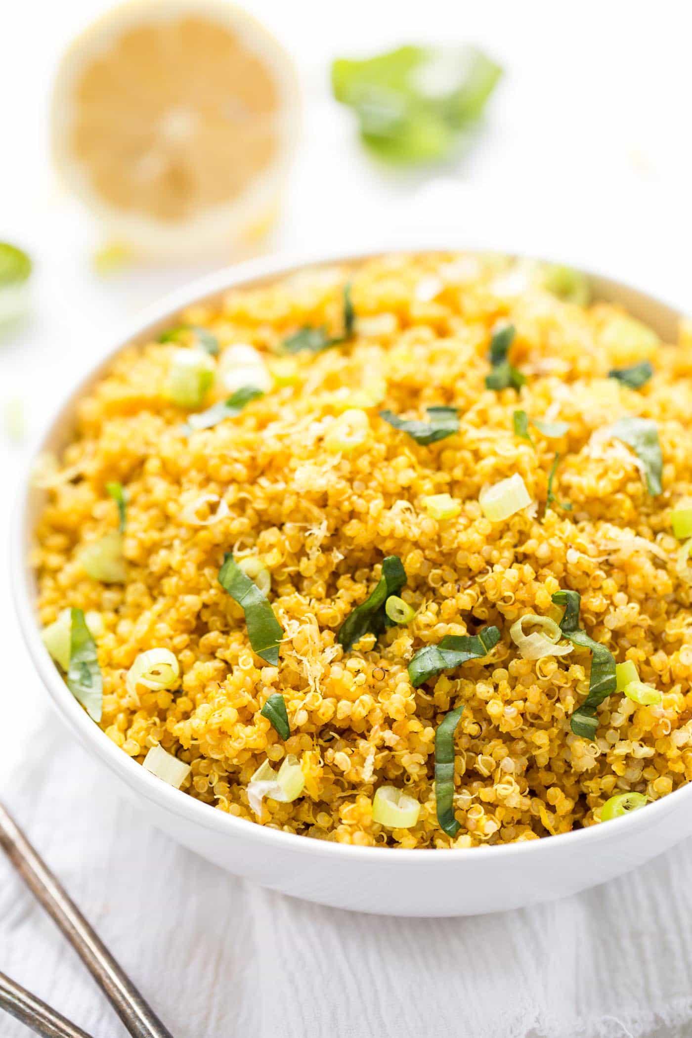 Lemon Turmeric Quinoa